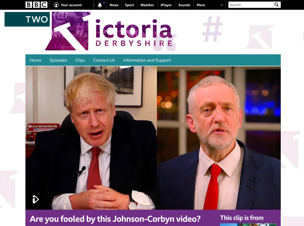Feature Bbc News Embedded Throughout Making Of Partly Political Broadcast Deep Fakes Bill Posters